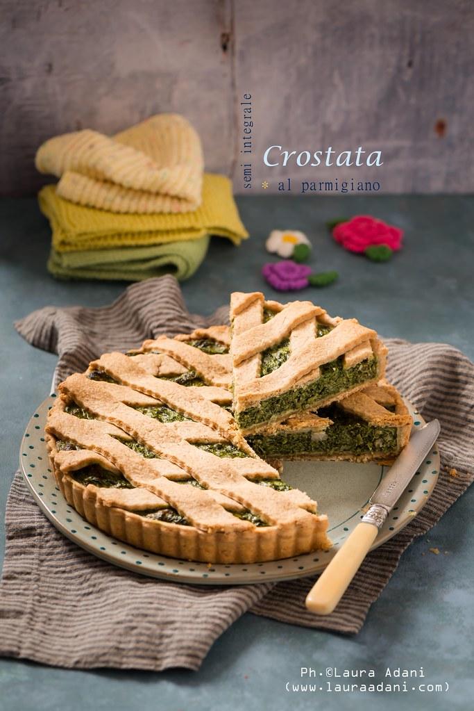 Crostata (semi integrale) al parmigiano