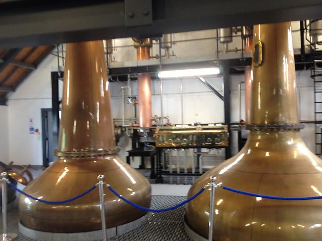 Copper stills, Arran Distillery