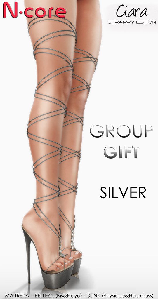 "N-core CIARA ""Strappy Edition"" (Silver) GROUP GIFT! - SecondLifeHub.com"