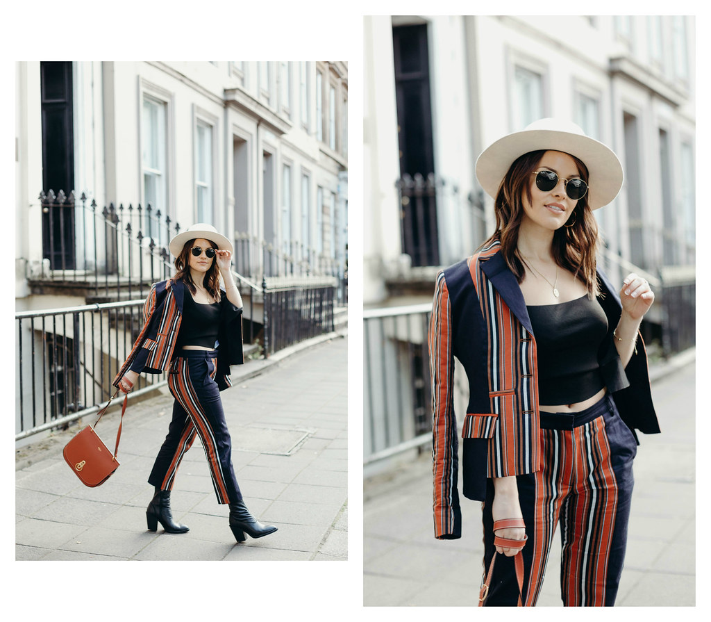 The Little Magpie French Connection Striped Two PieceSuit