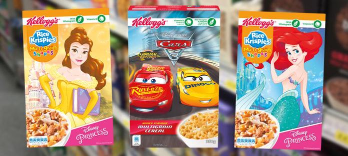 Kellogg's Disney Prinzessinnen & Pixar Cars 3 Cerealien