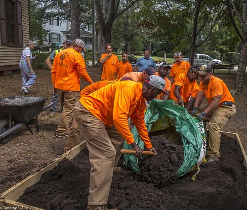georgia janeingramallen janeingramallenproject newnan newnanartrez citycrew puttingindirt residency workmen