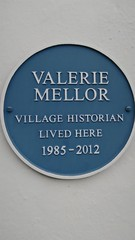 Photo of Valerie Mellor blue plaque