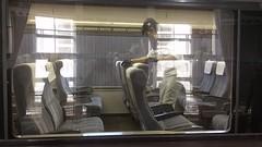 Flipping train seats at Toyama station