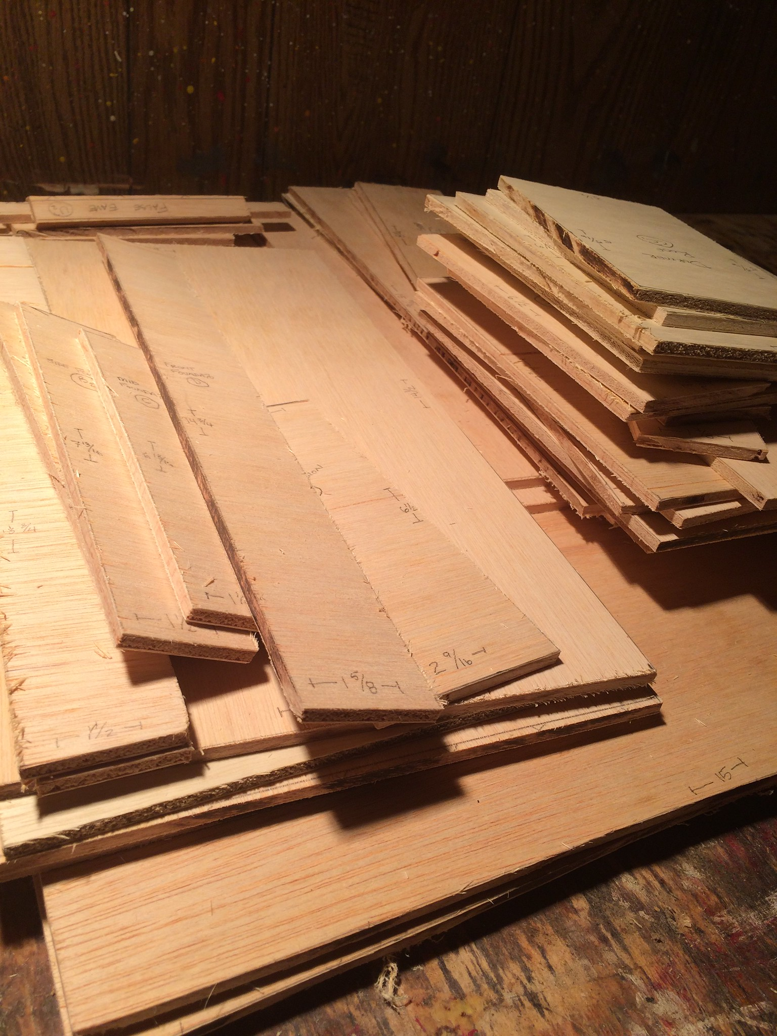 dollhouse pieces cut and unassembled
