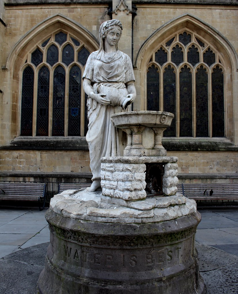 Water Is Best statue, Bath