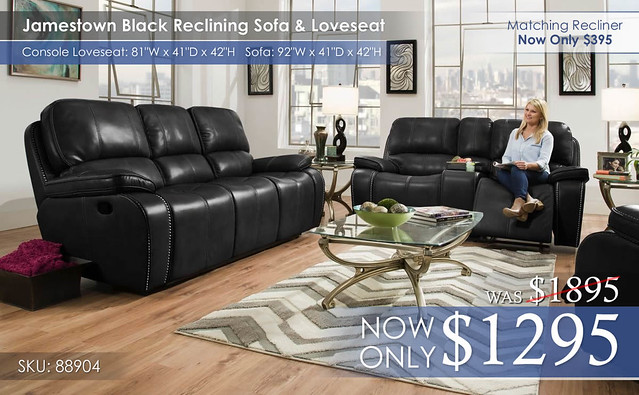 Jamestown Black Reclining Set 88904