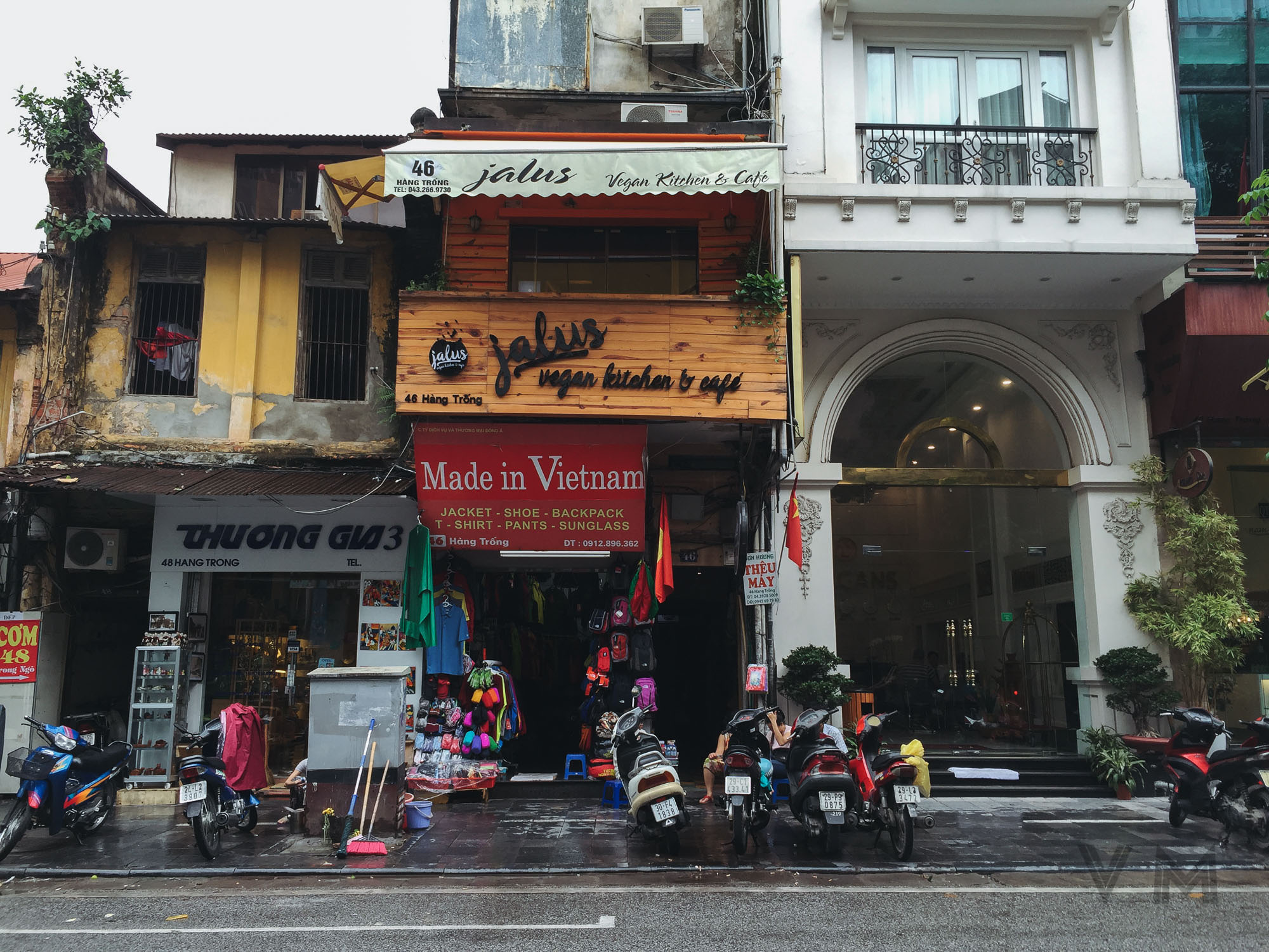 Jalus Vegan Kitchen & Cafe, Hanoi, Vietnam on the street