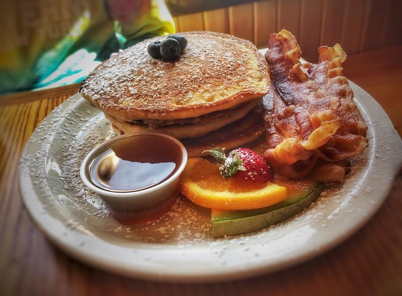 Flapjacks w/ Bacon - Farmhouse Cafe - Lake Placid, NY