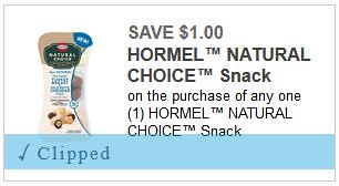 Free Hormel Natural Choice snacks