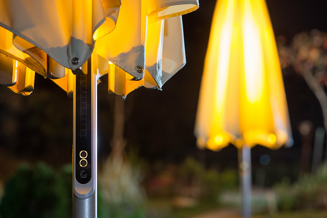 Outdoor Yellow Patio Umbrella, Nikon D800, Sigma 85mm F1.4 EX DG HSM