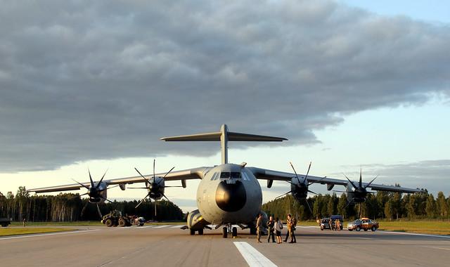 Aviācijas bāzē Lielvārdē notiek mācībās