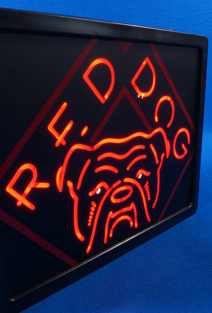 Man Cave Signs That Light Up : Sold rare red dog beer light up sign man cave game room