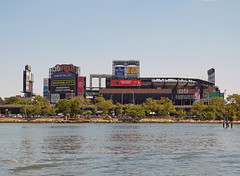 Citi Field Viewed From Flushing Bay; Queens, New York
