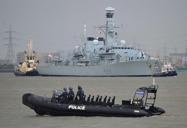 HMS Argyll F231 (3) @ Gallions Reach 09-09-17