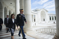 President of the Republic of the Marshall Islands, H.E. Hilda C. Heine, Participates in a Public Wreath-Laying Ceremony at Arlington National Cemetery