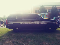 The PCT 4 Constable Office out displaying their vehicles and providing security