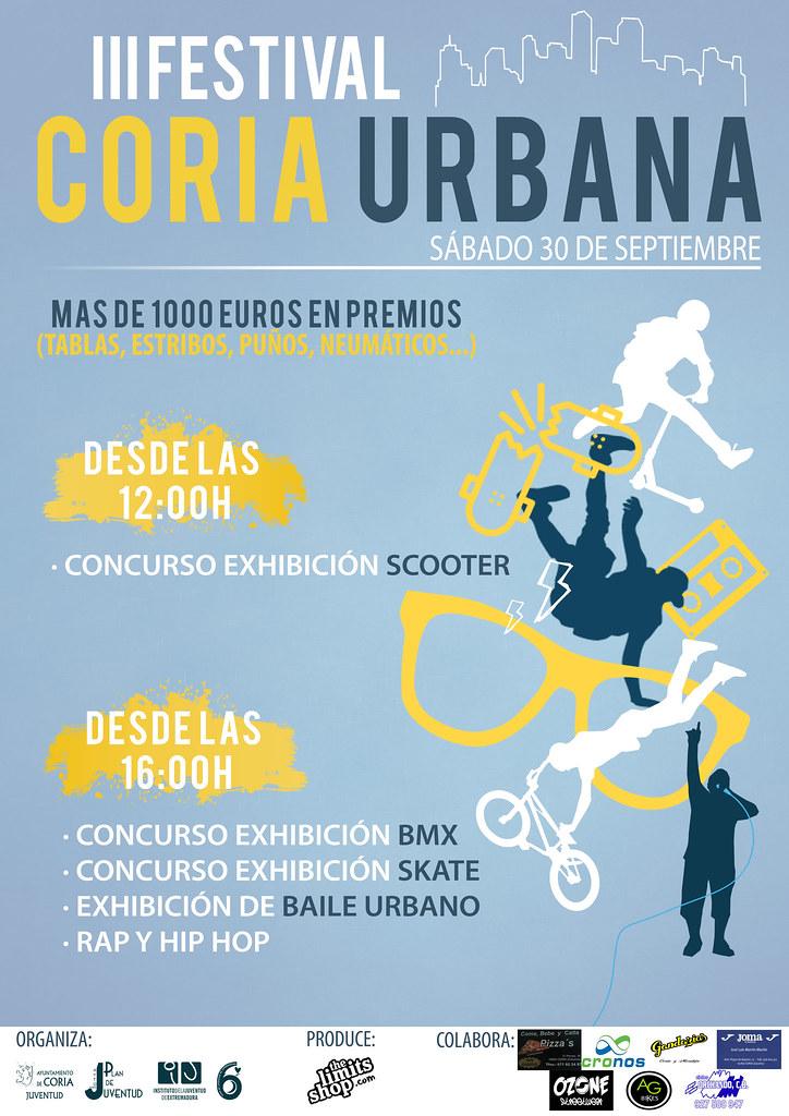 El III Festival Coria Urbana se celebrará el día 30 de septiembre