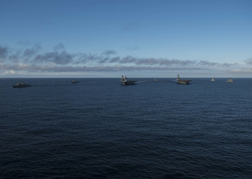 Saxon Warrior is a United States and United Kingdom co-hosted carrier strike group exercise that demonstrates interoperability and capability to respond to crises and deter potential threats.