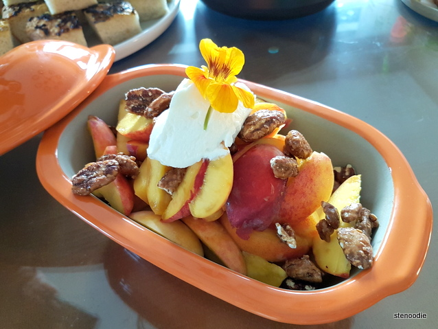 Peaches and walnuts
