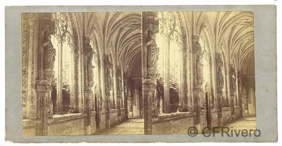 San Juan de los Reyes en Toledo fotografiado por Louis Léon Masson. Colección Fernández Rivero