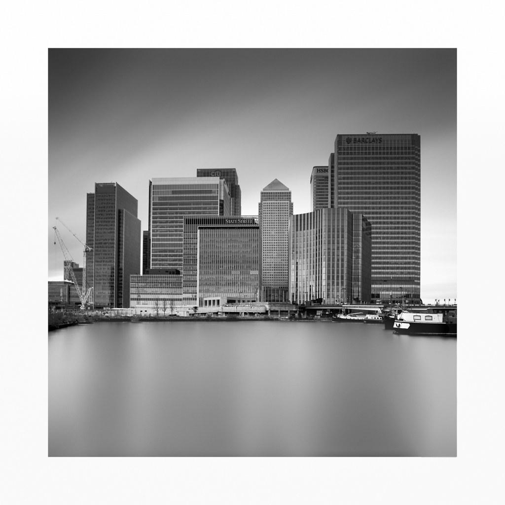Canary Wharf Skyline   B&W Photography workshops www vulture
