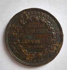 1855 Exposition Universelle De 1855 Paris Medaille D'Honneur obverse