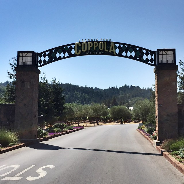 Coppola Winery Entrance