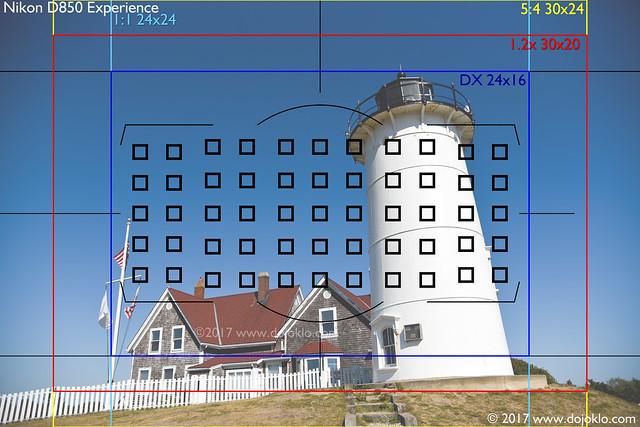 Nikon D850 Viewfinder / Autofocus with Image Areas