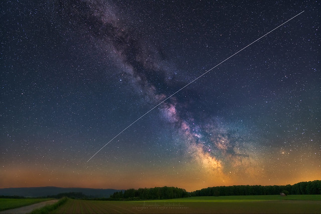ISS meets Milky Way