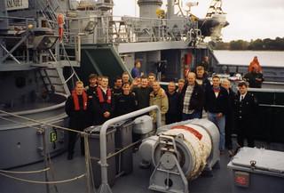 VL Valppaan latvialainen miehistö on tutustumassa alukseen