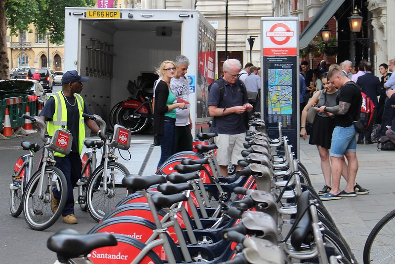 Replenishing the Bike Share, London