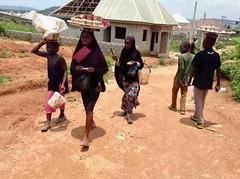 Street hawking, boiled groundnuts, Ushafa Village, Abuja, Nigeria, #JujuFilms
