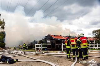Scheunenbrand Fohlenhof Hofheim-Wallau 20.08.17