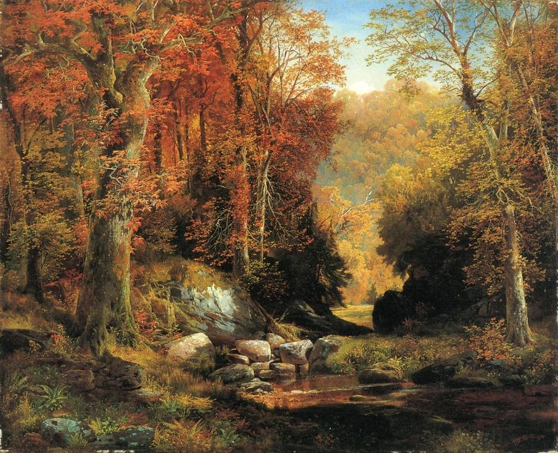 Cresheim Glen, Wissahickon, Autumn by Thomas Moran, 1864