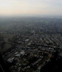 New York, close to landing at JFK airport