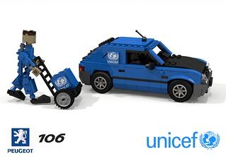 Peugeot 106 Van (Lego 106 UNICEF Delivery)