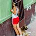 Girl, Dog, Door, Bucaramanga Colombia