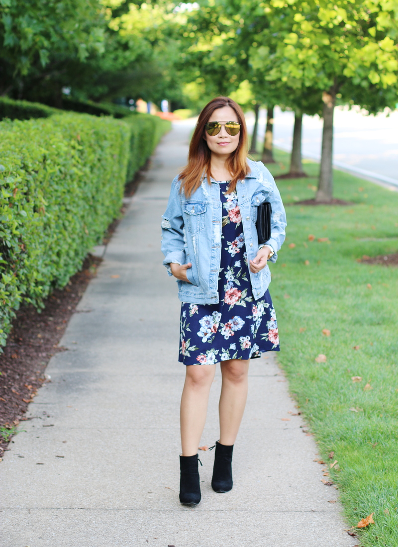 pink-blush-floral-dress-denim-jacket-sunglasses-4