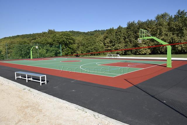 Γεωργιανοί εγκαίνια γήπεδο μπάσκετ