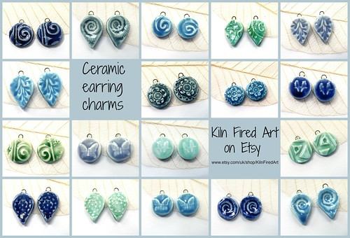 ceramic earring charms