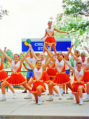 Cheerleading Performance, Arlington, Texas, 1996