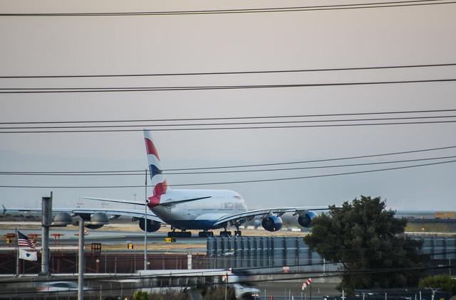 ba flight 286 taxi to departure ll