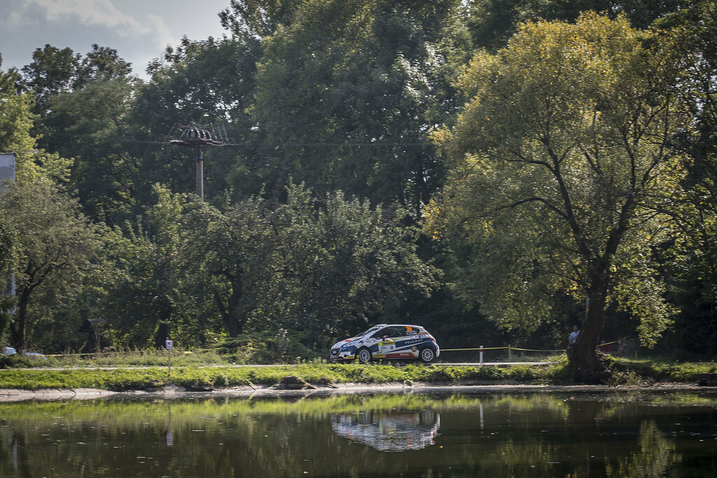 38 MARES Filip (CZE) HLOUSEK Jan (CZE) Peugeot 208 R2 actionduring the 2017 European Rally Championship ERC Barum rally,  from August 25 to 27, at Zlin, Czech Republic - Photo Gregory Lenormand / DPPI
