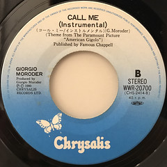 BLONDIE:CALL ME(LABEL SIDE-B)