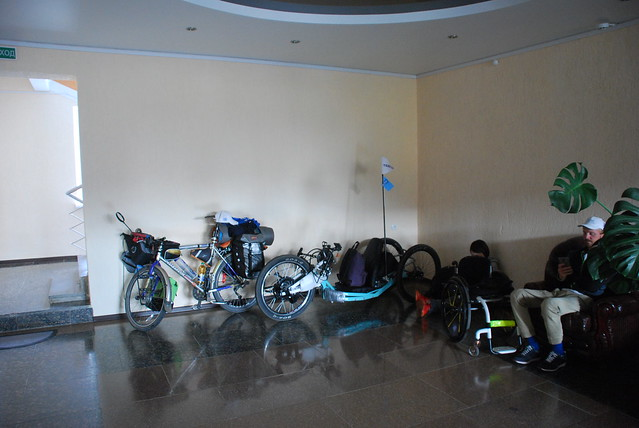 bicycle parking in hotel