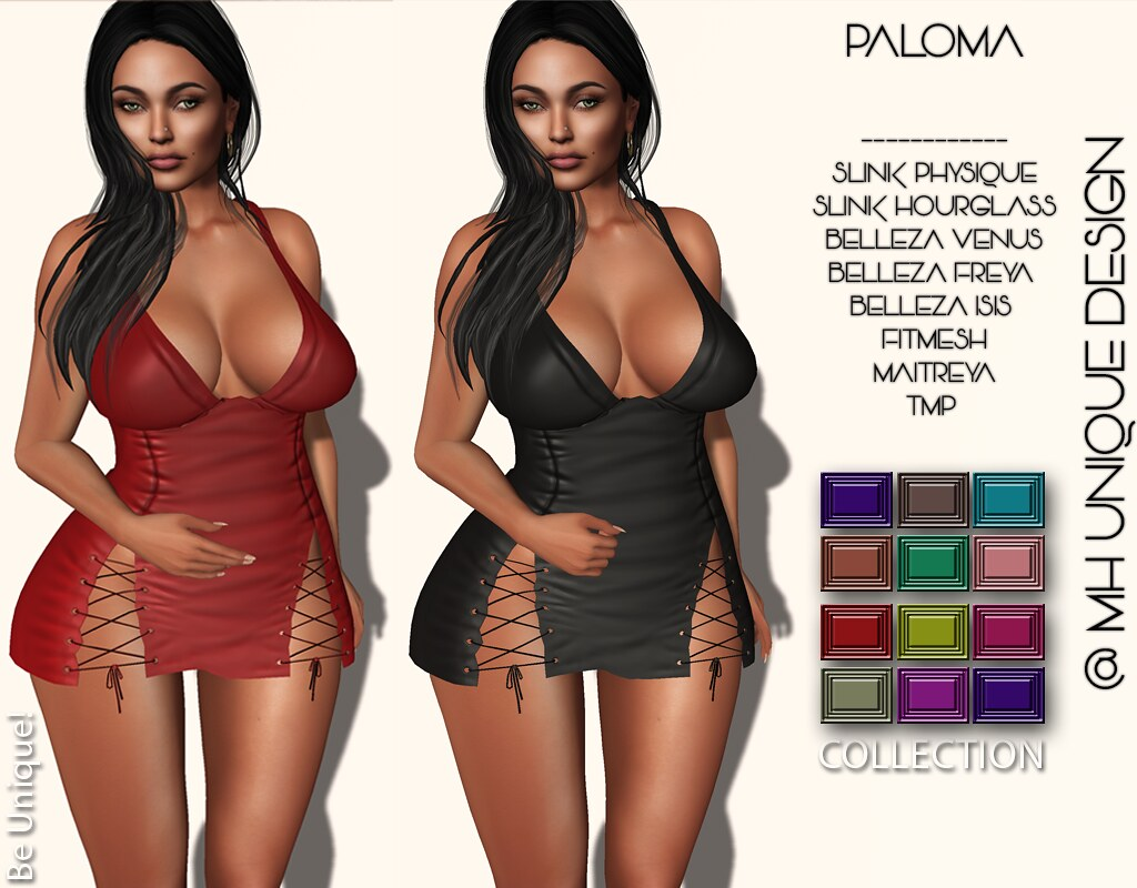 MH-Paloma Dress -Collection FatPack - SecondLifeHub.com