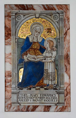 St Anne teaching the young Blessed Virgin to read,  by Ada Currey for Powell & Sons