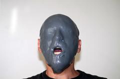 grey slimed face