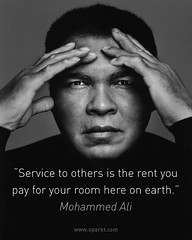 """Famous Celebrity Quotes : """"Service to others is the rent you pay for your room here on earth."""" ~…"""